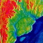Agence spatiale canadienne (ASC) - RADARSAT-1 - Image en haute résolution de l'Astroblème de Charlevoix